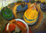 Dodgems, Oil on Board