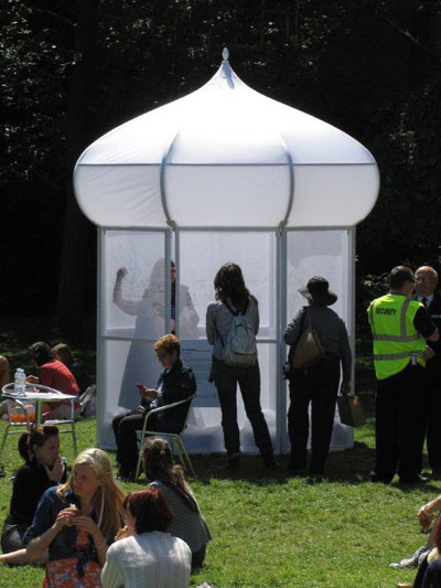 Brighton Pavilion gardens drawing tent