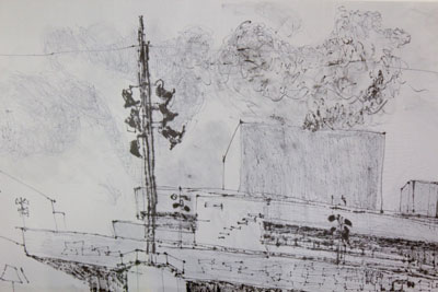Sally booth news artist living and working in london the national pen on voile detail sciox Images