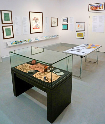 Geevor Tin Mine Exhibition Installation shot with display case