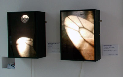 lightboxes on display at One Degree of Change