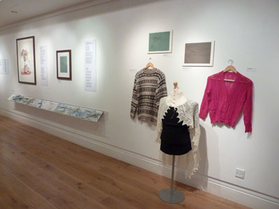 Artwork, poetry and knitting